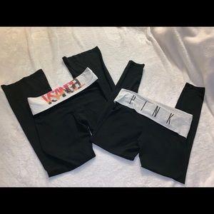 VS/ PINK Legging & Yoga Pant Bundle MEDIUM